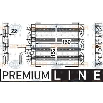 Kraftstoffkühler -- HELLA, MERCEDES-BENZ, C-KLASSE (W203), Sportcoupe...