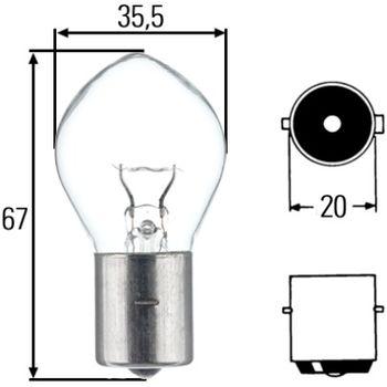 Glühlampe, Arbeitsscheinwerfer -- HELLA, Lampenart: 25...