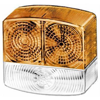 Lichtscheibe, Blinkleuchte -- HELLA, Anzahl der Leuchtefunktionen: 2...
