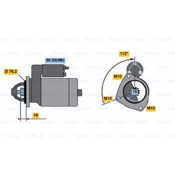 Wischermotor -- BOSCH, MERCEDES-BENZ, VW, SPRINTER 3-t Kasten (903), ...