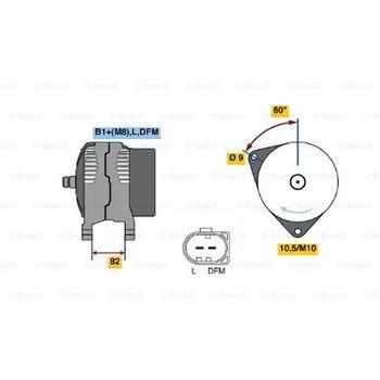 Generator -- BOSCH, AUDI, A4 (8D2, B5), Avant (8D5,...