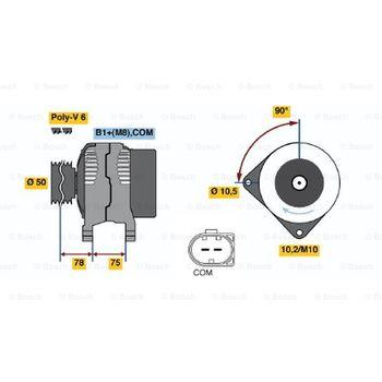 Generator -- BOSCH, BMW, (BRILLIANCE), 5 (E60), 3 Cabriolet (E46), ...