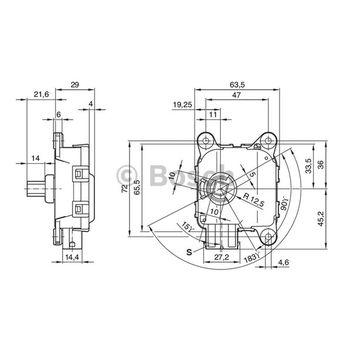 Stellelement, Leuchtweiteregulierung -- BOSCH, Betriebsart: EL...