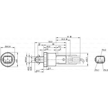 Druckschalter, Bremshydraulik -- BOSCH, VW, OPEL, MERCEDES-BENZ, ...