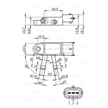 Sensor, Abgasdruck:: ROBERT BOSCH GMBH, NISSAN, SUZUKI, RENAULT -- ,...