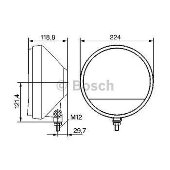 Nebelscheinwerfer -- BOSCH, Durchmesser [mm]: 224, Lampenart: 3...