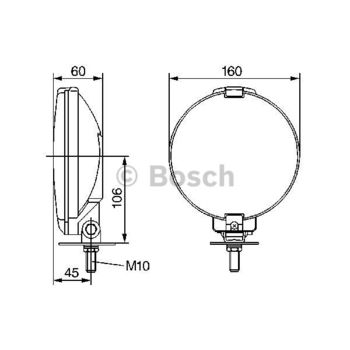 Fernscheinwerfer -- BOSCH, Durchmesser [mm]: 106, Breite [mm]: 160...
