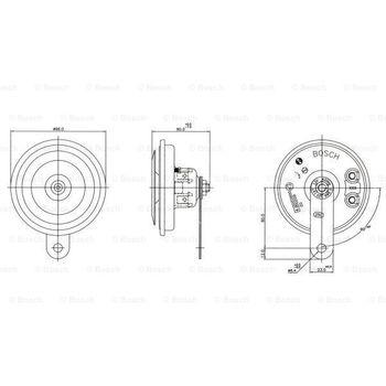 Horn -- BOSCH, Durchmesser [mm]: 96, Betriebsart: EL...