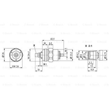 Abstellvorrichtung, Einspritzanlage -- BOSCH, Betriebsart: EL