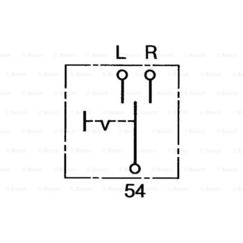 Blinkerschalter -- BOSCH, Montageart: 10