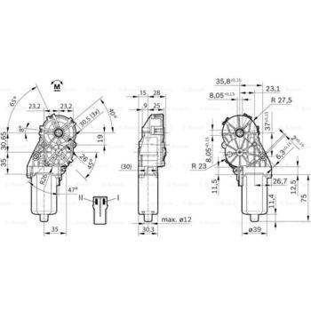 Stellelement, Leuchtweiteregulierung -- BOSCH, Betriebsart: EL