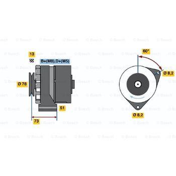 Generator -- BOSCH, BMW, 6 (E24), 3 (E30), 7 (E23), 5 (E12), ...
