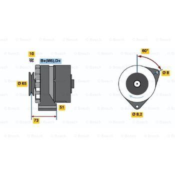 Generator -- BOSCH, BMW, 02 (E10), 3 (E21), 5 (E12), 1500-2000 (115,...