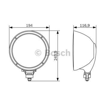 Fernscheinwerfer -- BOSCH, Durchmesser [mm]: 175, Breite [mm]: 122...
