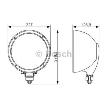 Fernscheinwerfer -- BOSCH, Durchmesser [mm]: 225, Breite [mm]: 137...