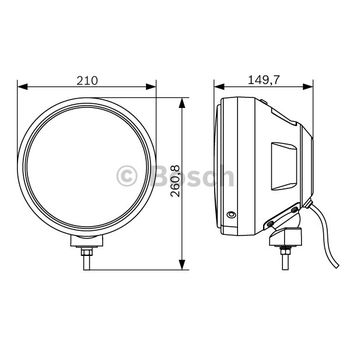 Fernscheinwerfer -- BOSCH, Durchmesser [mm]: 209, Breite [mm]: 210...