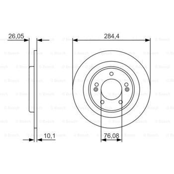 Luftfilter -- BOSCH, FIAT, DOBLO Großraumlimousine (223, 119), Cargo...