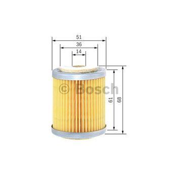 Kraftstofffilter -- BOSCH, Filterausführung: 9, Durchmesser [mm]: 51...