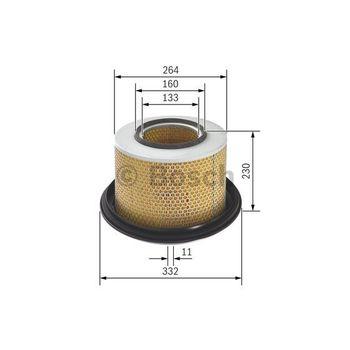 Luftfilter -- BOSCH, Filterausführung: 9, Durchmesser [mm]: 332...