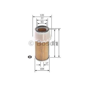 Luftfilter -- BOSCH, Filterausführung: 9, Durchmesser [mm]: 131...