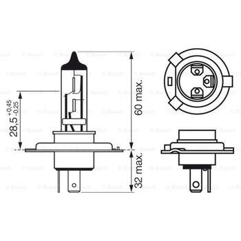 Glühlampe, Hauptscheinwerfer -- BOSCH, Spannung [V]: 24...