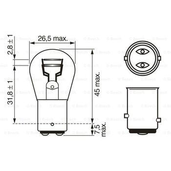 Glühlampe, Brems-/Schlußlicht -- BOSCH, VW, OPEL, FORD, RENAULT, ...,...
