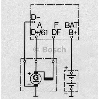 Generatorregler -- BOSCH, Generatorausführung: 0