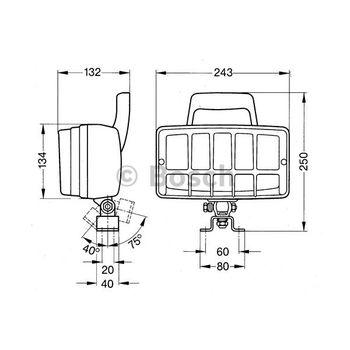 Arbeitsscheinwerfer -- BOSCH, Einbauseite: FB, Durchmesser [mm]: 243...