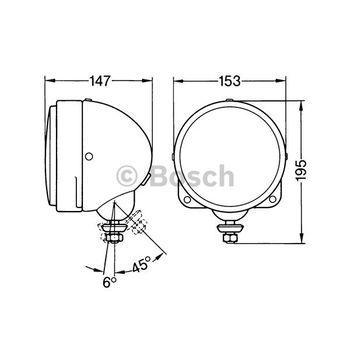 Arbeitsscheinwerfer -- BOSCH, Einbauseite: FB, Durchmesser [mm]: 153...