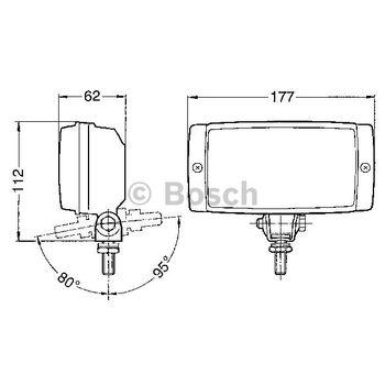 Arbeitsscheinwerfer -- BOSCH, Einbauseite: FB, Durchmesser [mm]: 177...