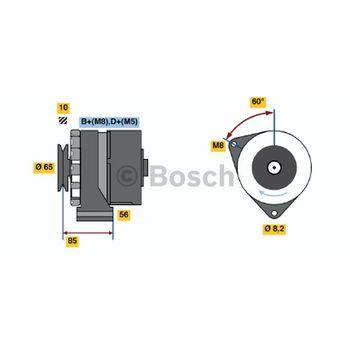 Generator -- BOSCH, AUDI, 100 (44, 44Q, C3), COUPE (81, 85), Avant, ...