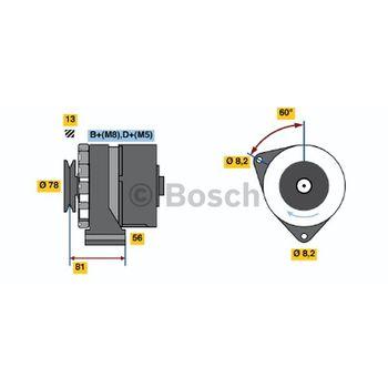 Generator -- BOSCH, BMW, 3 (E30), 5 (E28), 6 (E24), 7 (E23)...