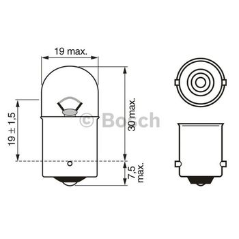 Glühlampe -- BOSCH, RENAULT, CLIO II (BB0/1/2_, CB0/1/2_), Kasten...