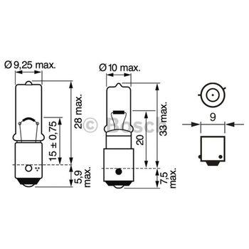 Glühlampe, Brems-/Schlußlicht -- BOSCH, VW, BMW, MERCEDES-BENZ, ...