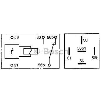 Verzögerungsrelais, Innenraumbeleuchtung -- BOSCH, Stromstärke [A]: 4...