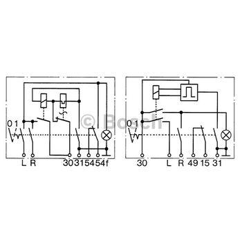 Blinkgeber -- BOSCH, FIAT, 125 (125_), Betriebsart: EL...