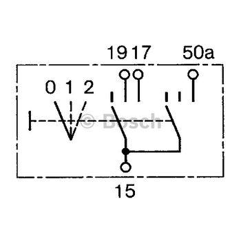 Schalter, Vorglühen -- BOSCH, Montageart: 12