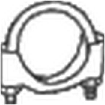 Klemmstück, Abgasanlage -- BOSAL, FORD, BMW, CHRYSLER, ...
