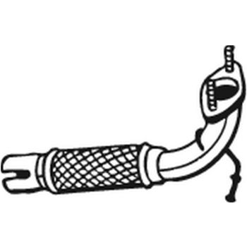 Abgasrohr -- BOSAL, FORD, MAZDA, FIESTA V (JH_, JD_), FUSION (JU_), ...