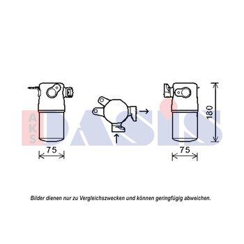 Trockner, Klimaanlage -- AKS DASIS, AUDI, A8 (4E_)