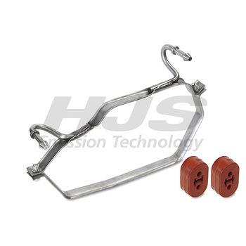 Halter, Schalldämpfer -- HJS, MINI, MINI (R50, R53), Abgasanlage: 52...