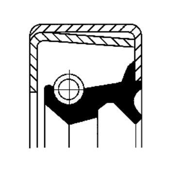 Wellendichtring, Radnabe -- CORTECO, Einbauseite: VA...