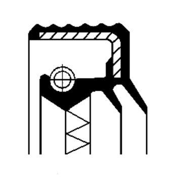 Wellendichtring, Radnabe -- CORTECO, Innendurchmesser 1 [mm]: 142,5...