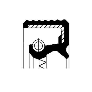Wellendichtring, Nebenantrieb -- CORTECO, Innendurchmesser 1 [mm]: 45...