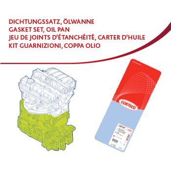 Dichtungssatz, Kurbelgehäuse -- CORTECO, RENAULT, NISSAN, MEGANE II...