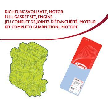 Dichtungsvollsatz, Motor -- CORTECO, PEUGEOT, CITROËN, 206 Schrägheck...