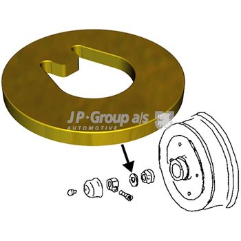 Lagerung, Radlagergehäuse -- JP GROUP, VW, GOLF III (1H1), POLO (6N1),...