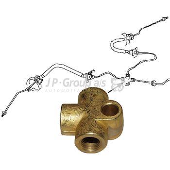 Adapter, Bremsleitung -- JP GROUP, Adapterform: 17, Einbauseite: H