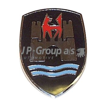 Kühleremblem -- JP GROUP, VW, KAEFER, Einbauseite: V, Farbe: 7...