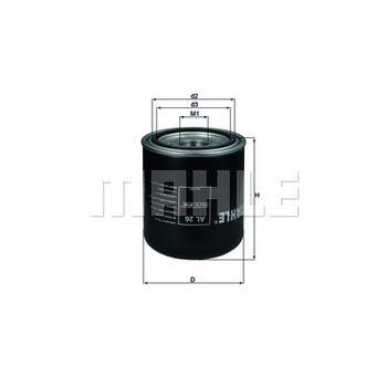 Lufttrocknerpatrone, Druckluftanlage -- MAHLE, Filterausführung: 1...